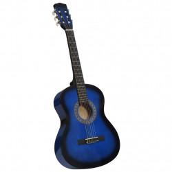"""Sonata Класическа китара за начинаещи и деца, синя, 3/4, 36"""" - Музикални Инструменти"""