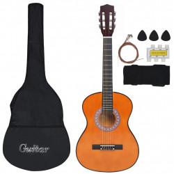 """Sonata Комплект класическа китара за деца и начинаещи 8 части 3/4 36"""" - Музикални Инструменти"""