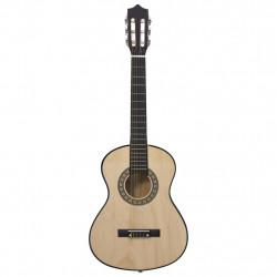 """Sonata Класическа китара за начинаещи и деца, 1/2, 34"""", липово дърво - Музикални Инструменти"""