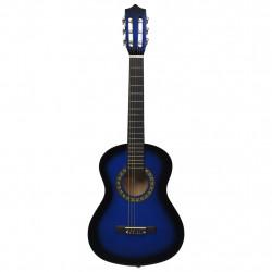 """Sonata Класическа китара за начинаещи и деца, синя, 1/2, 34"""" - Музикални Инструменти"""
