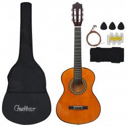 """Sonata Комплект класическа китара за начинаещи деца от 8 части 1/2 34"""" - Музикални Инструменти"""