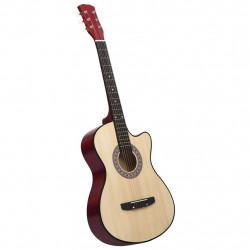 """Sonata Уестърн акустична cutaway китара с 6 струни, 38"""", липово дърво - Музикални Инструменти"""