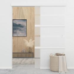 Sonata Плъзгаща врата, ESG стъкло и алуминий, 102,5x205 см, сребриста - Механизми
