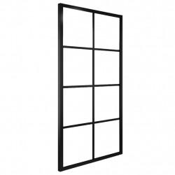 Sonata Плъзгаща врата, алуминий и ESG стъкло, 102,5x205 см, черна - Механизми