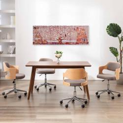 Sonata Комплект принт върху канава за стена, дърво, жълт, 120x40 см - Картини, Плакати, Пъзели