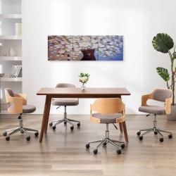 Sonata Комплект принт на канава за стена ваза с цветя пъстър 120x40 см - Картини, Плакати, Пъзели