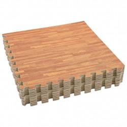 Sonata Постелки за под 12 бр дървесни шарки 4,32 м² EVA пяна - Подови настилки