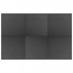 Sonata Постелки за под 6 бр 2,16 м² EVA пяна черни - Подови настилки