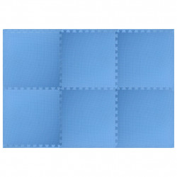 Sonata Постелки за под 6 бр 2,16 м² EVA пяна сини - Подови настилки