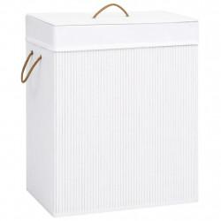 Sonata Бамбуков кош за пране, бял, 100 л - Перални