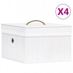 Sonata Бамбукови кутии за съхранение 4 бр бели - Сравняване на продукти