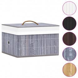 Sonata Бамбукови кутии за съхранение 4 бр сиви - Аксесоари за Всекидневна