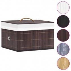 Sonata Бамбукови кутии за съхранение 4 бр кафяви - Аксесоари за Всекидневна