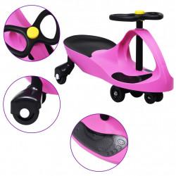 Sonata Въртяща се кола с клаксон тип играчка за яздене, розова - Детски превозни средства