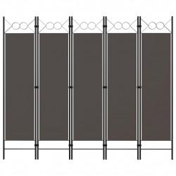 Sonata Параван за стая, 5 панела, антрацит, 200x180 см - Аксесоари за Всекидневна