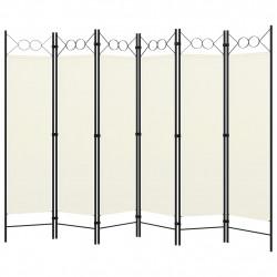 Sonata Параван за стая, 6 панела, кремавобял, 240x180 cм - Аксесоари за Всекидневна