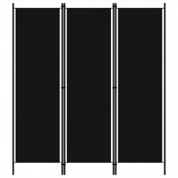 Sonata Параван за стая, 3 панела, черен, 150x180 см - Аксесоари за Всекидневна