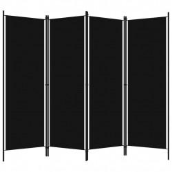 Sonata Параван за стая, 4 панела, черен, 200x180 см - Аксесоари за Всекидневна