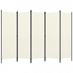 Sonata Параван за стая, 5 панела, кремавобял, 250x180 см - Аксесоари за Всекидневна