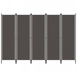 Sonata Параван за стая, 5 панела, антрацит, 250x180 см - Аксесоари за Всекидневна
