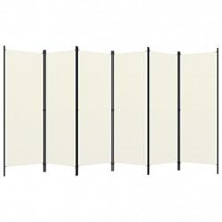 Sonata Параван за стая, 6 панела, кремавобял, 300x180 cм - Аксесоари за Всекидневна
