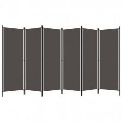 Sonata Параван за стая, 6 панела, антрацит, 300x180 cм - Аксесоари за Всекидневна