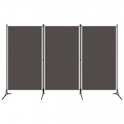 Sonata Параван за стая, 3 панела, антрацит, 260x180 см - Аксесоари за Всекидневна
