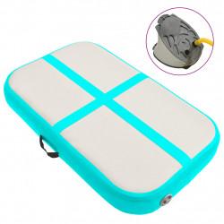 Sonata Надуваем дюшек за гимнастика с помпа, 60x100x20 см, PVC, зелен - Спортни Игри
