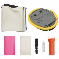 Sonata Надуваем гимнастически дюшек с помпа, 100x100x15 см, PVC, розов - Спортни Игри