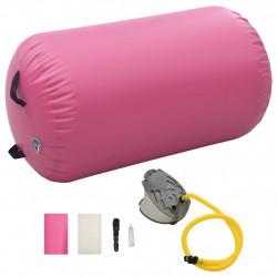 Sonata Надуваем гимнастически дюшек с помпа 100x60 см PVC розов - Спортни Игри