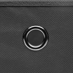 Sonata Кутии за съхранение с капаци 4 бр 28x28x28 см сиви - Продукти за съхранение