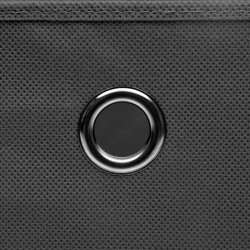 Sonata Кутии за съхранение с капаци 10 бр 28x28x28 см сиви - Продукти за съхранение