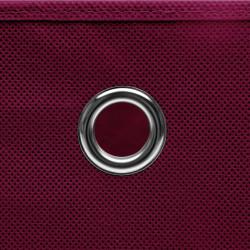 Sonata Кутии за съхранение с капаци 4 бр 28x28x28 см тъмночервени - Продукти за съхранение