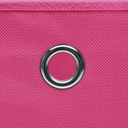 Sonata Кутии за съхранение с капаци 4 бр 28x28x28 см розови - Продукти за съхранение