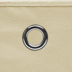 Sonata Кутии за съхранение с капаци 4 бр 28x28x28 см кремави - Продукти за съхранение