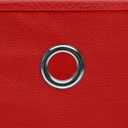 Sonata Кутии за съхранение 10 бр нетъкан текстил 28x28x28 см червени - Продукти за съхранение