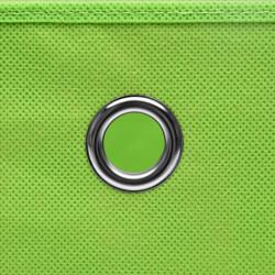 Sonata Кутии за съхранение с капаци 10 бр 28x28x28 см зелени - Продукти за съхранение