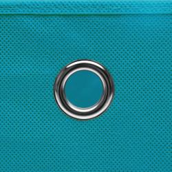 Sonata Кутии за съхранение с капаци 10 бр 28x28x28 см бебешко сини - Продукти за съхранение