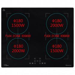 Sonata Вграден индукционен плот Flexizone с тъч контрол 3000 W 60 см - Сравняване на продукти