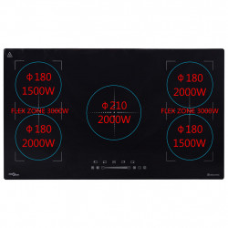 Sonata Вграден индукционен плот Flexizone с тъч контрол 3000 W 86 см - Сравняване на продукти