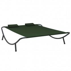 Sonata Градинско лаундж легло, текстил, зелено - Градински комплекти