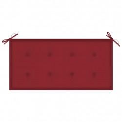 Sonata Възглавница за градинска пейка виненочервена 100x50x4 см плат - Градински Дивани и Пейки
