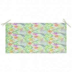 Sonata Възглавница за градинска пейка на листа 100x50x4 см плат - Градински Дивани и Пейки