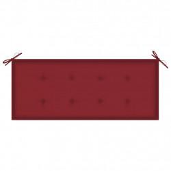 Sonata Възглавница за градинска пейка виненочервена 120x50x4 см плат - Градински Дивани и Пейки