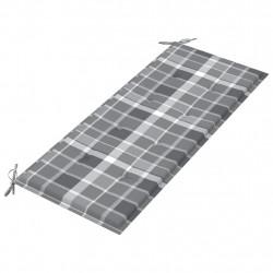 Sonata Възглавница за градинска пейка сиво каре 120x50x4 см плат - Градински Дивани и Пейки