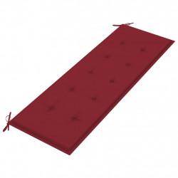 Sonata Възглавница за градинска пейка виненочервена 150x50x4 см плат - Градински Дивани и Пейки