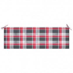 Sonata Възглавница за градинска пейка червено каре 150x50x4 см плат - Градински Дивани и Пейки