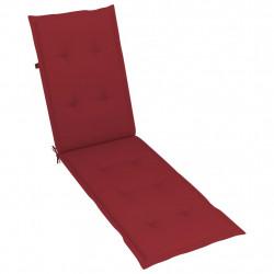 Sonata Шалте за шезлонг, виненочервено, (75+105)x50x4 см - Шезлонги