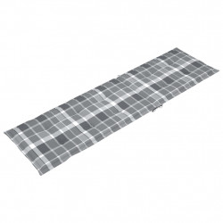 Sonata Шалте за шезлонг, сиво каре, (75+105)x50x4 см - Шезлонги