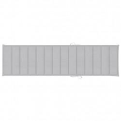 Sonata Шалте за шезлонг, сиво, 200x50x4 см, текстил - Шезлонги